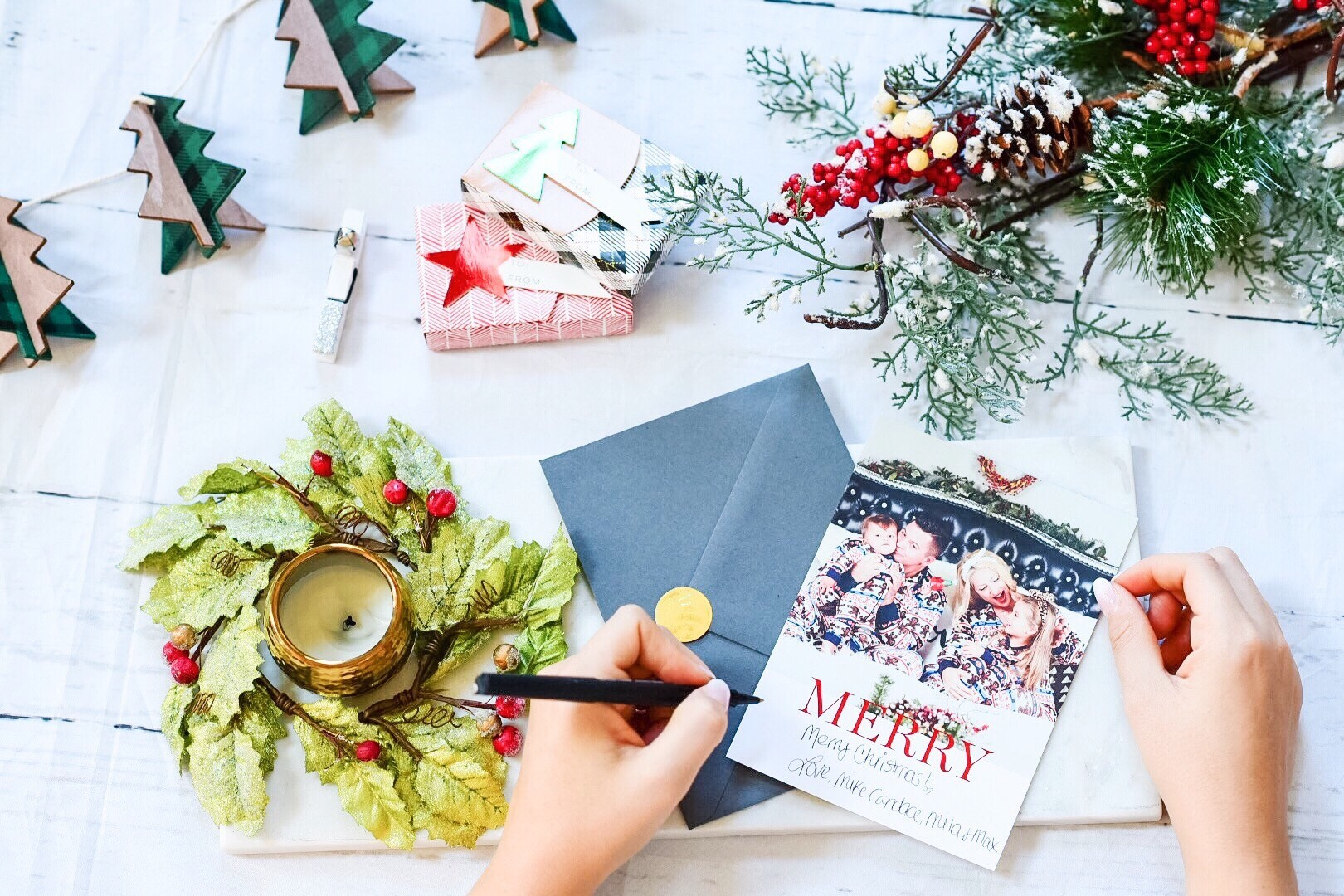 Create a simple Christmas card at home - Can1love